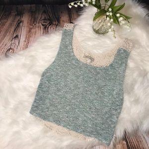 Cozy Casual Boho Lace Back Crop Top